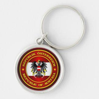 Österreich-Medaillon Silberfarbener Runder Schlüsselanhänger