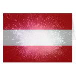 Österreich; Österreich Flagge Karte