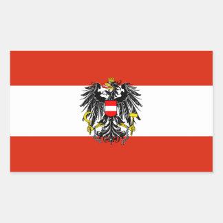 Österreich-Staats-Flaggen-Aufkleber Rechteckiger Aufkleber