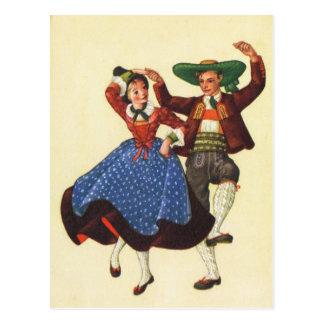 Österreich, Tirol, traditionelle Volkstänzer Postkarte