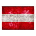 Österreichische Flagge Grußkarten