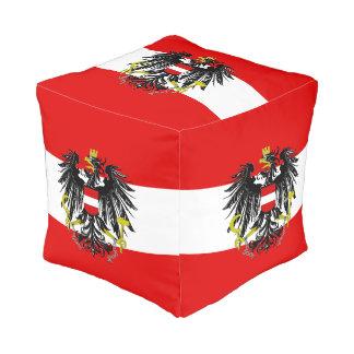 Österreichische Flagge Kubus Sitzpuff