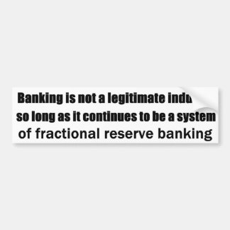 Österreichische Gedanken auf modernem Bankwesen Autoaufkleber