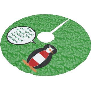 Österreichischer Feiertags-Herr Penguin Polyester Weihnachtsbaumdecke