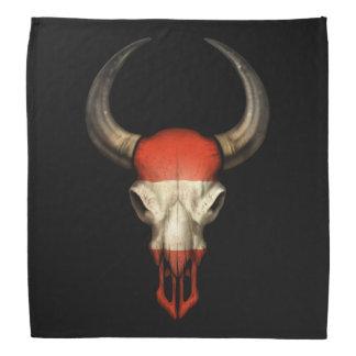 Österreichischer Flaggen-Stier-Schädel Halstuch