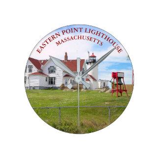 Ostpunkt-Leuchtturm, Massachusetts-Uhr Runde Wanduhr