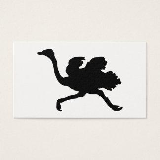 Ostrich-Silhouette Visitenkarte