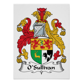 O'Sullivan-Familienwappen Poster
