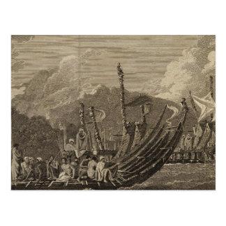 Otaheite Flotte, Tahiti Postkarte