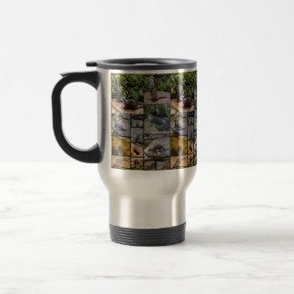 Otter-Foto-Collage, Reise-Kaffeetasse Edelstahl Thermotasse