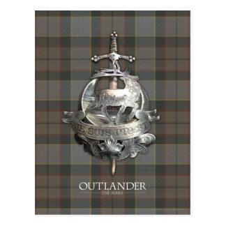 Outlander   die Fraser Brosche Postkarte