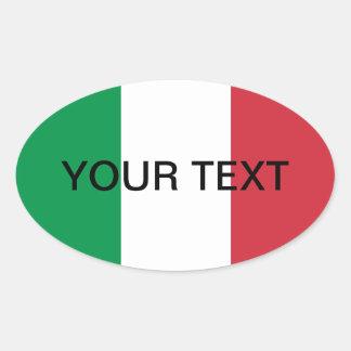 Ovale Aufkleber | der italienischen Flagge Flagge