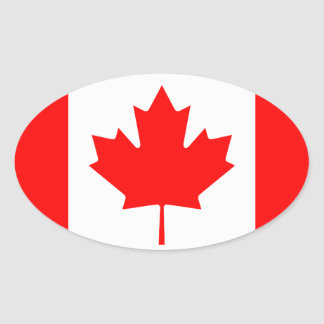 Ovale Aufkleber | der kanadischen Flagge Flagge