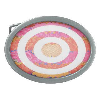 Ovale Buntglas-Rosa-Darstellung Ovale Gürtelschnallen