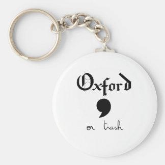 Oxford oder Abfall Schlüsselanhänger