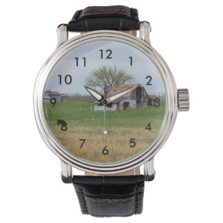Ozark alter Bauernhof Armbanduhr