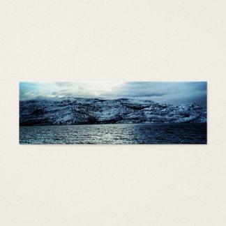 Ozean-dunkelblaues Wolken-Lesezeichen Mini Visitenkarte