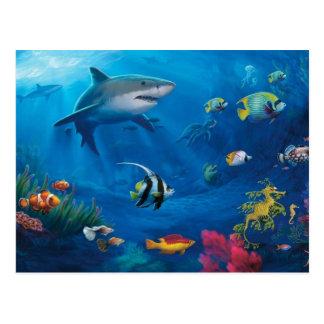 Ozean-Wandgemälde Postkarte