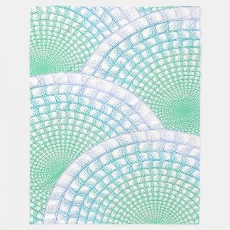 Ozean-Wellen-abstrakte Fleece-Decke Fleecedecke