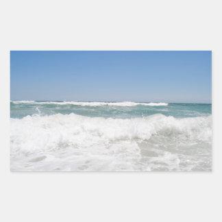 Ozean-Wellen-Aufkleber Rechteckiger Aufkleber