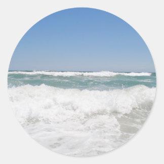 Ozean-Wellen-Aufkleber Runder Aufkleber