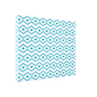 Ozean-Wellen-Diamant-Zickzack-Leinwand Galerie Gefaltete Leinwand