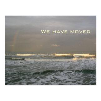 Ozean-Wellen-neue Adressen-Postkarten Postkarte