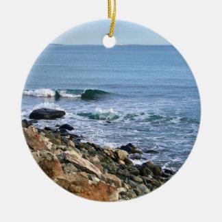 Ozean-Wellen-Verzierung Rundes Keramik Ornament