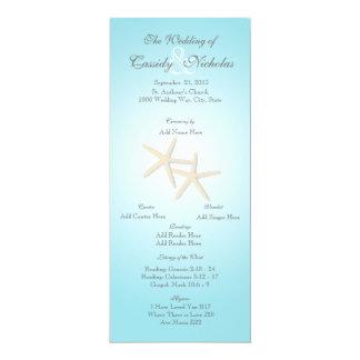 Ozeanstarfish-Hochzeits-Programm-Karte 10,2 X 23,5 Cm Einladungskarte