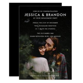 Paar-Verlobungs-Foto des Polterabend-| 12,7 X 17,8 Cm Einladungskarte