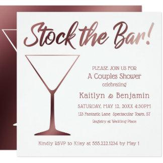 Paare auf Lager die Bar-Dusche im Rosen-Gold Ombre Karte