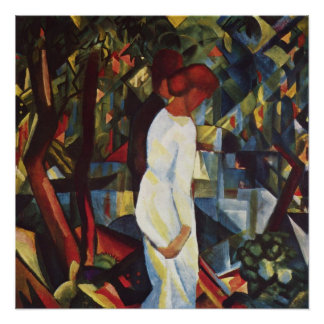 Paare im Holz bis August Macke Poster