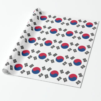 Packpapier mit Flagge von Südkorea