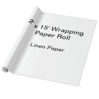 Packpapier (Rolle 2x15, Leinenpapier) Geschenkpapier