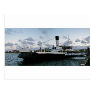 Paddel-Dampf-Schiff Postkarte