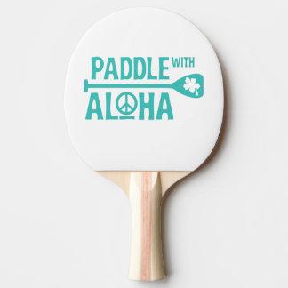 Paddel mit Aloha - Klingeln Pong Paddel - Türkis Tischtennis Schläger