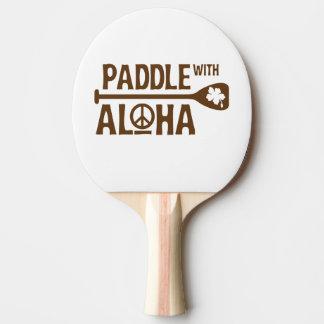 Paddel mit Aloha Ping Pong Paddel - Brown-Hibiskus Tischtennis Schläger