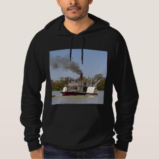 Paddle_Steamer_Murray_River_Mens_Black_Sweatshirt. Hoodie
