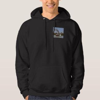 Paddle_Steamer_River_Mens_Hooded_Sweatshirt. Hoodie