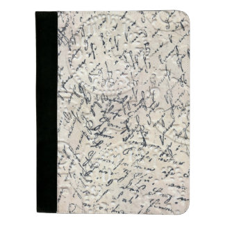 Padfolio Skript-Collagen-Entwurf