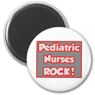 Pädiatrischer Krankenschwester-Felsen! Runder Magnet 5,1 Cm