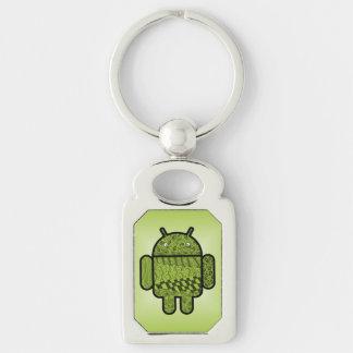 Paisley-Gekritzel-Charakter für Android™ Schlüsselanhänger