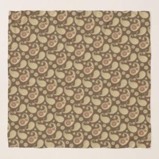 Paisley-Muster, weiches Gold auf Schal