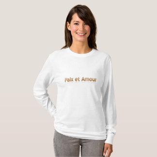 Paix und grundlegender langer die Hülsen-T - Shirt