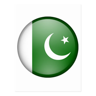 Pakistan-Flaggenkreis Postkarte