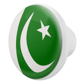 Pakistan-Pakistaner-Flagge Keramikknauf