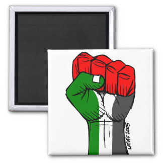 Palästina-Magnet Quadratischer Magnet