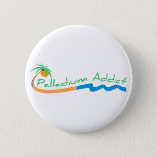 Palladium-Süchtig-Knopf Runder Button 5,7 Cm