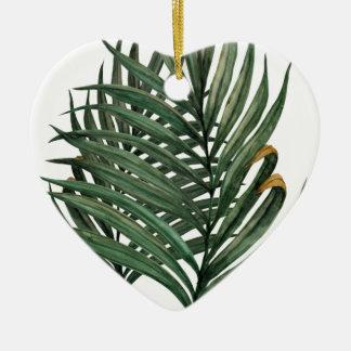 Palmblatt-T - Shirt Keramik Herz-Ornament
