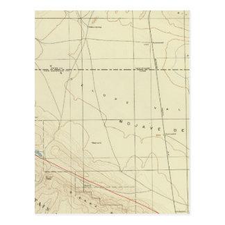 Palmdale Viereck, das San- Andreasriß zeigt Postkarte